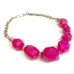 Fossil Pink Beaded Necklace